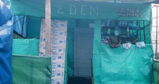 Kiosk – im Flüchtlingslager Mugunga, 1995