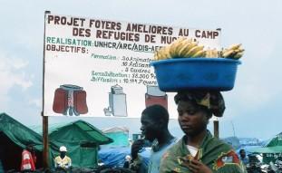 Im Flüchtlingslager Mugunga, Zaire 1995